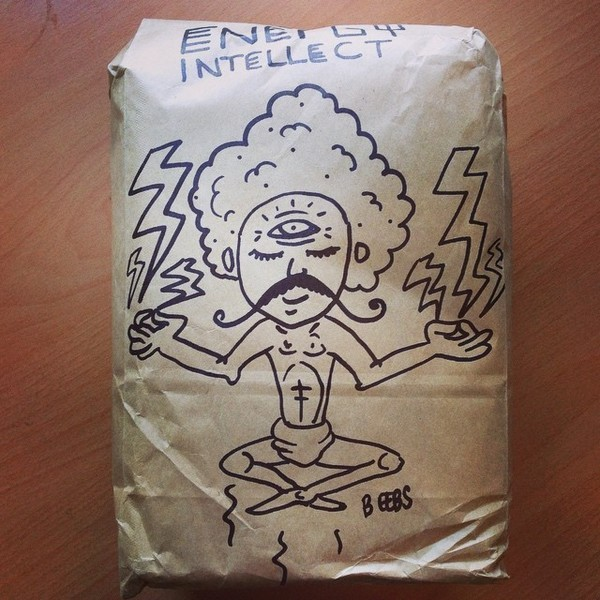 COFFEEUFEEL - havanacoffeeworks don't ever stop with the whack doodles on your delivery packages!